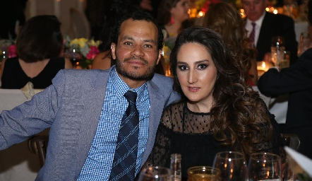 Miguel Fernández y Lorena Ortiz.