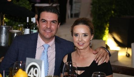 Manuel Díaz Infante y Marcela Alcalde.