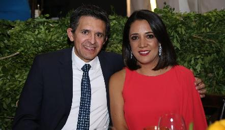 Adán Espinosa y Malena Sánchez.
