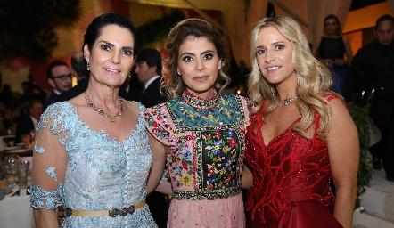 Teresa del Pozo, Claudia de Oliva y Vanessa Anaya.