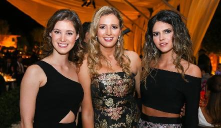Regina Mendizábal, Gaby Del Valle y Ana Paula de la Fuente.