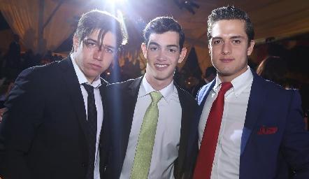 Chema Santos, Pablo Valladares y Rodrigo Díaz de León.