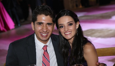 Guillermo Acosta y Andrea Abud.