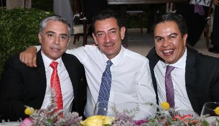 Gerardo Serrano, Polo Córdova y Arturo Gómez.