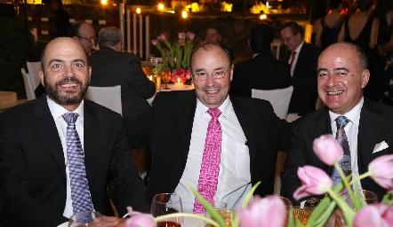 Jeppo Mahbub, Fernando López y Rafael Olmos.