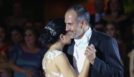 Daniela y Marcelo de los Santos.