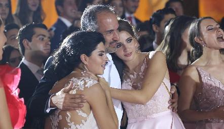 Daniela, Marcelo y Ana Pau de los Santos.