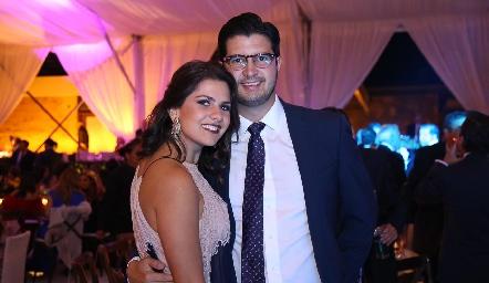 Valeria Siller y José Benavente.