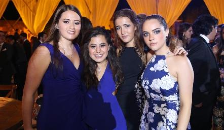 Marisol Aldrett, Ximena Fonseca, Laura Pelayo y Paula Gómez.