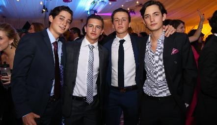 Santiago Rodríguez, José Miguel Meade, Rodrigo Navarro y Sebastián Martínez.
