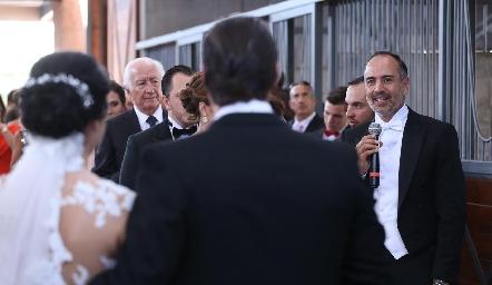 Palabras de Marcelo de los Santos, papá de la novia.