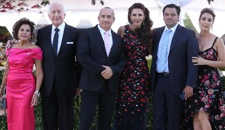Guille y Marcelo de los Santos, Mauricio Zendejas, Guille, Fernando y Pilar de los Santos.