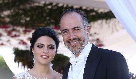 Daniela con su papá Marcelo de los Santos.