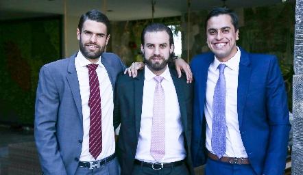 Pato Maurer, Gerardo Eggleton y Omar García.