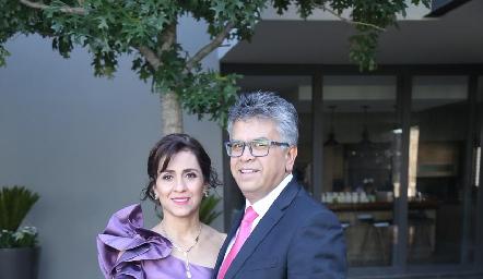 Silia Martínez y Jorge Candia.