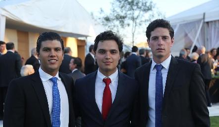 Juan Manuel Piñero, Enrique Quintero y Diego Jourdain.