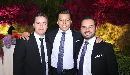 Pablo Herrera, Lizandro Bravo y Rodrigo Alcalde.