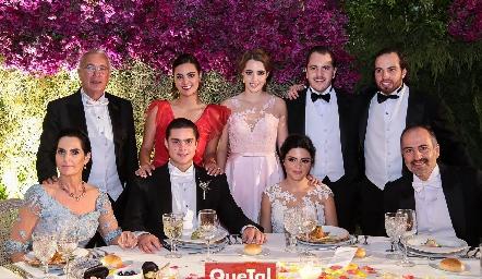 Familia Rosillo y Familia de los Santos.