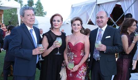Felipe Mier, Marcela Padrón, Adriana Carrera y Rafa Olmos.