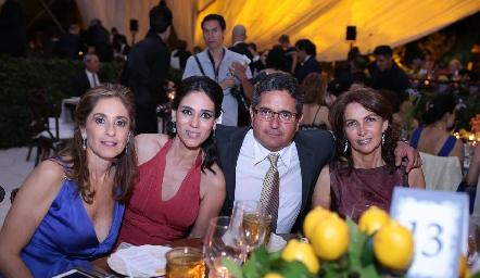 Mónica Gaviño, Maribel Lozano, Gerardo Rodríguez y Claudia Canales.