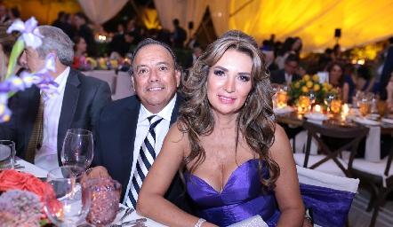 Celio Ramírez y Cristina Mexicano.