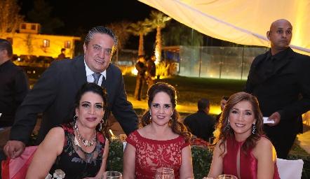 Manuel Ascanio, Mercedes Morales, Gabriela Payán y Silvia Tapia.
