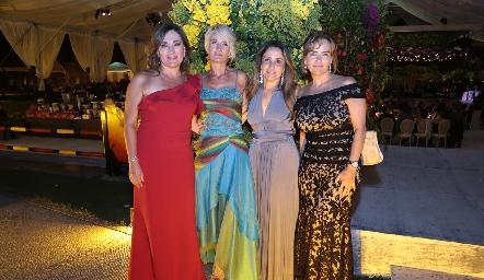 Anota Anaya, Güera Valle, Martha Chalita y Paty González.