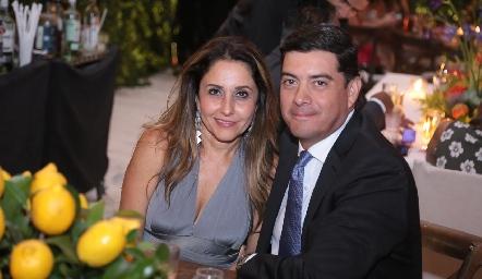 Martha Chalita y Javier Dávila.