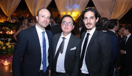 José Gómez, Antonio Guzmán y Gerardo Rodríguez.