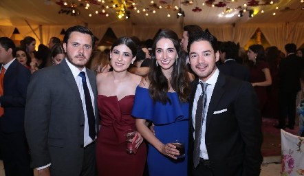 Cristóbal Safont, Melissa Fernández, Mariana Alcalá y Miguel Torres.
