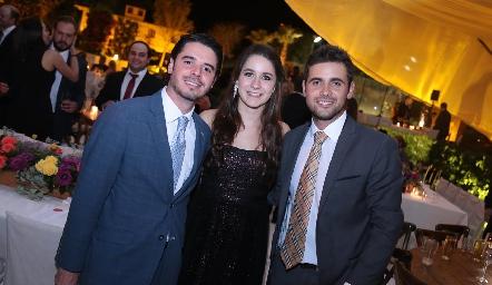 Miguel Álvarez Álvarez, Cristy Jerez e Iker Monsech.