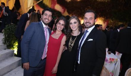 José Manuel Lázaro, Natalia Navarro, Pau Martínez y Rodrigo Alcalde.