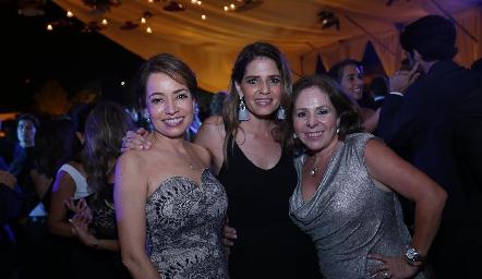 Ana Luisa Acosta, Rosy Rodríguez y Laura Álvarez.