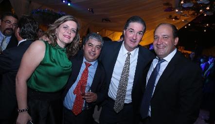 Martha Malo, Gerardo Córdova, Andrés Bárcena y Gabriel Valle.