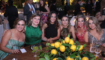 Gabriela Bárcena, Martha Malo, Delia Iduarte, Roxana Serna, Claudia Quiroz y Daniela Serment.