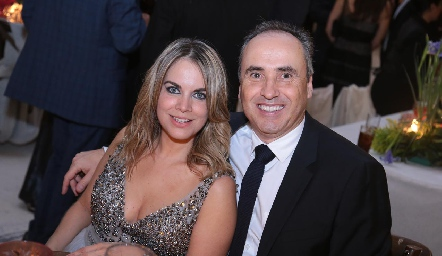 Daniela Serment y Alejandro Navarro.