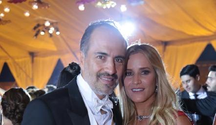 Marcelo de los Santos y Vanessa Anaya.