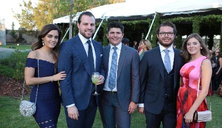 Denisse Arazqueta, Mariano Salinas, Dionisio Sánchez, Mauricio Santos y Angélica Valle.
