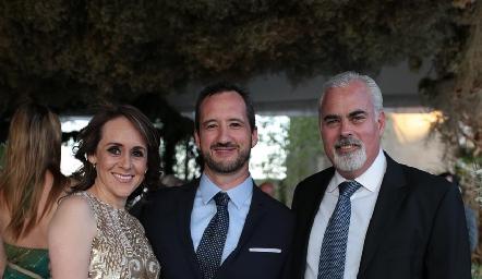 Ely Rentería, Fer Barba y Roberto Cummings.