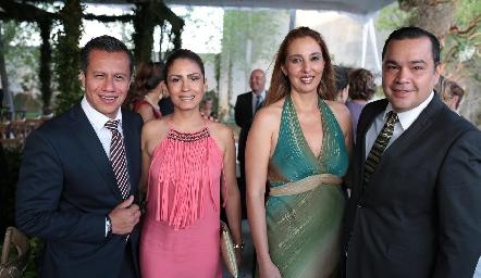 Rafael Rocha, Ana Orozco, Ginna Laiseca y Gonzalo Sánchez.