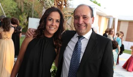 Delia Iduarte y Gabriel Valle.