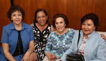 Blanca Rosa Gutiérrez, Guadalupe Rodríguez, Judith Zamora y Rosa Villareal  .