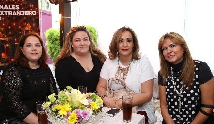 Jeny González, María Calvillo, Graciela Rubín y Graciela Mariel .