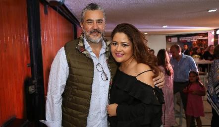 Gustavo Muñoz y Georgina Alderete .