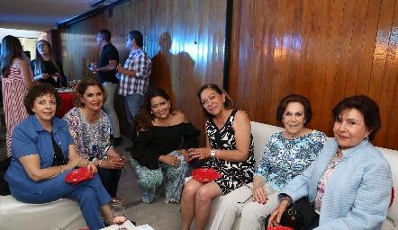 Blanca Rosa Gutiérrez, Neri Alderete, Georgina Alderete, Guadalupe Rodríguez, Judith Zamora y Rosa Villarreal.