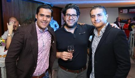 Aníbal Becerra, Antonio Mendoza y Darío Vargas.