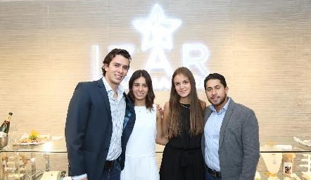 Benjamín Martin Alba, Mayte Dantuñano, Ana María Reyes y Jorge Rocha.