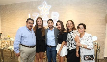 Humberto Quevedo, Ana María Reyes, Jorge Rocha, Luisa Rocha, Rosa María Torres y Luisa Torres.