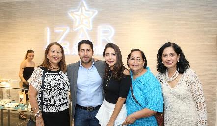 Rosa María Torres, Jorge Rocha, Luisa Rocha, Martha Torres y Patricia Gallardo.