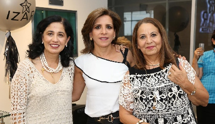Patricia Gallardo, Ana Emelia Tobías y Rosa María Torres.